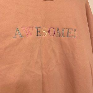 Taylor Swift AWESOME! peach sweatshirt